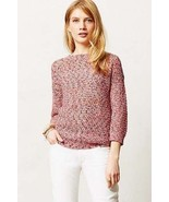 NWT ANTHROPOLOGIE ALIZARIN MARLED PULLOVER by KAIN LABEL S - $87.29