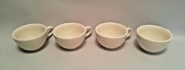 Homer Laughlin Vintage Restaurant Coffee Cups Mugs White Set of 4 HLC 6 ... - $16.82