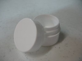 Lip Balm Containers - 0.25 Ounce White Plastic Lip Balm Jars w/lids, 12 ... - $9.23