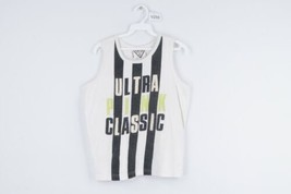 Vintage 90s Streetwear Mens XS Spell Out Striped Sleeveless Tank Top Shi... - $19.75