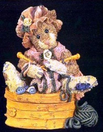 "Boyds Bearstone""Cookie Catberg.. Knitten Kitten"" - #2250- NIB- 1995-  Retired"