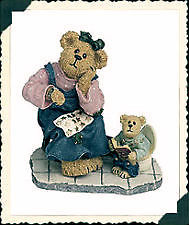 "Boyds Bearstone ""Momma with Taylor.. Patience is a Virtue"" #227797*1E*NIB-Retire"
