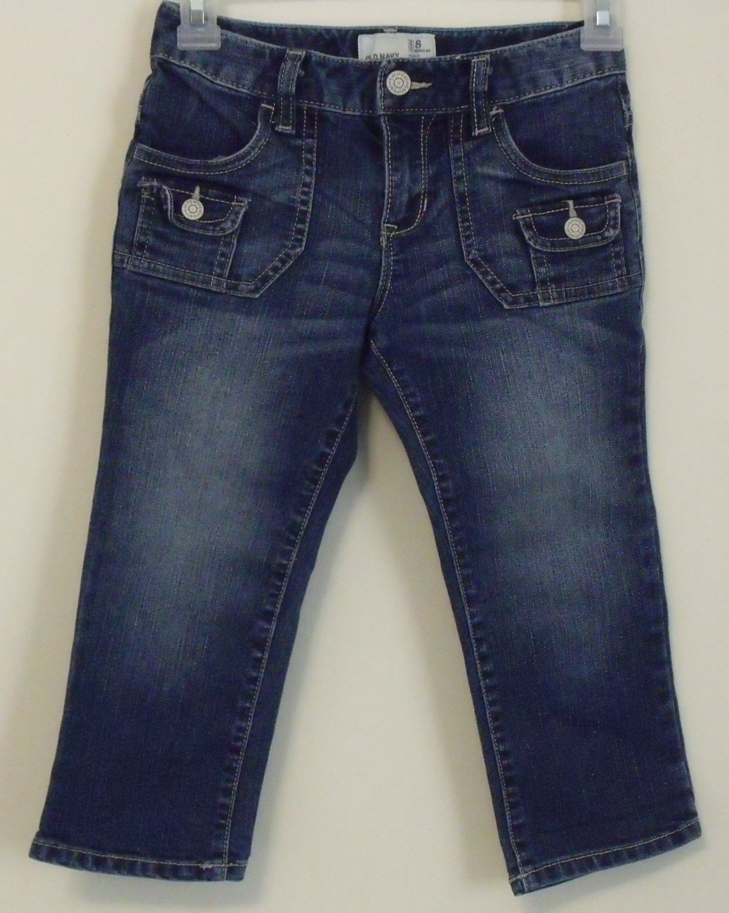Girls old navy denim capri pants size 8