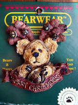 "Boyds Bearwear ""Hergatroid Merry Chrismoose"" Resin Christmas Pin #26027*New - $9.99"