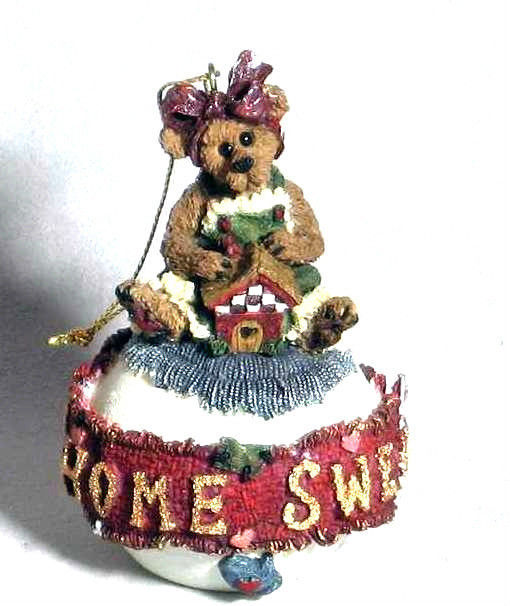 "Boyds Bearstone Ornament  ""Bailey.. Home Sweet Home"" #25708 -1E - NIB - Retired"