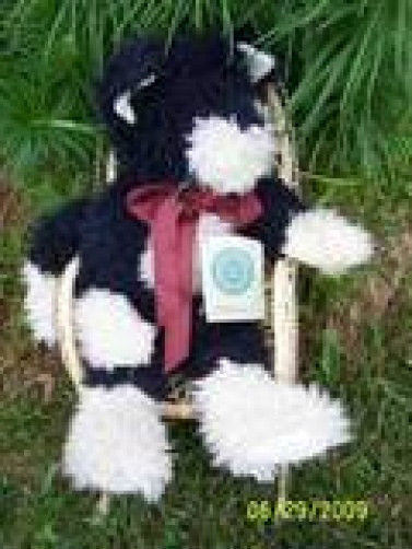 "BOYDS BEARS ""Hernanamous""- 16"" Blk & White*PlushCat* #5911-07*New* 1996* Retired"