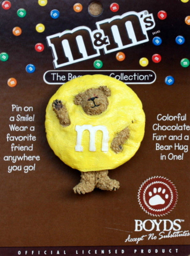 "Boyds Bearwear Pin ""M&M'S®"" Licensed Resin Pin #919010 -New- Retired"