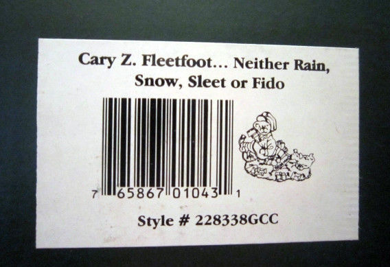 "Boyds Bearstone ""Cary Z.Fleetfoot"" GCC Exclusive- #228338GCC- New- 2000-Retired"