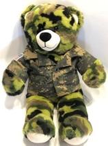 "Build A Bear US Army Military Bear Camouflage Plush 16"" Stuffed Toy Gree... - $24.49"
