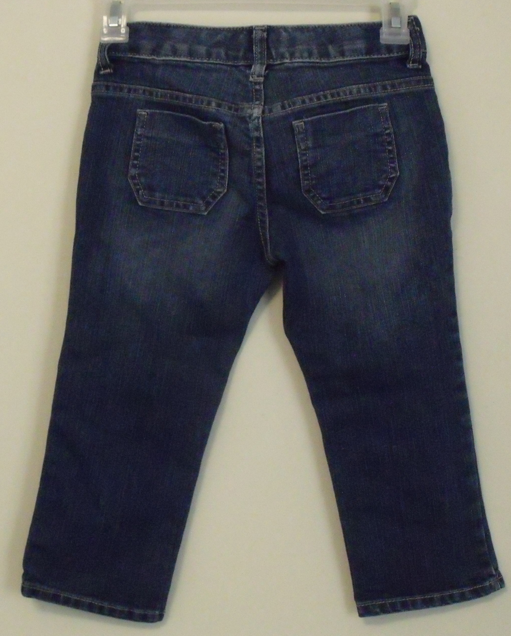 Girls Old Navy Denim Blue Capri Jeans Size 8