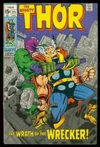 Thor #171 1969 Marvel Comics Wrath Of The Wrecker Kirby Vg - $24.83