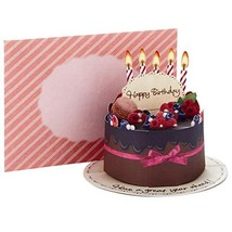Hallmark Pop Up Birthday Greeting Card Chocolate Cake - $8.74