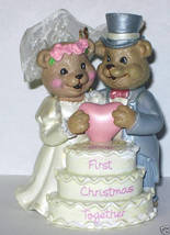 NIB 2006 FIRST CHRISTMAS TOGETHER ORNAMENT BEARS CAKE - $4.90