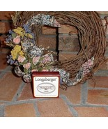 Longaberger Homestead Basket Tie On Fall Autumn Pottery New In Box - $7.87