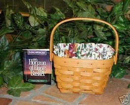 Longaberger Basket  Hope Garden Splendor Fabric Liner W Protector Combo New - $32.62