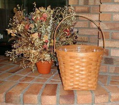 "Longaberger 9"" Measuring Basket Butternut Yellow Fabric Over Edge Liner New image 2"
