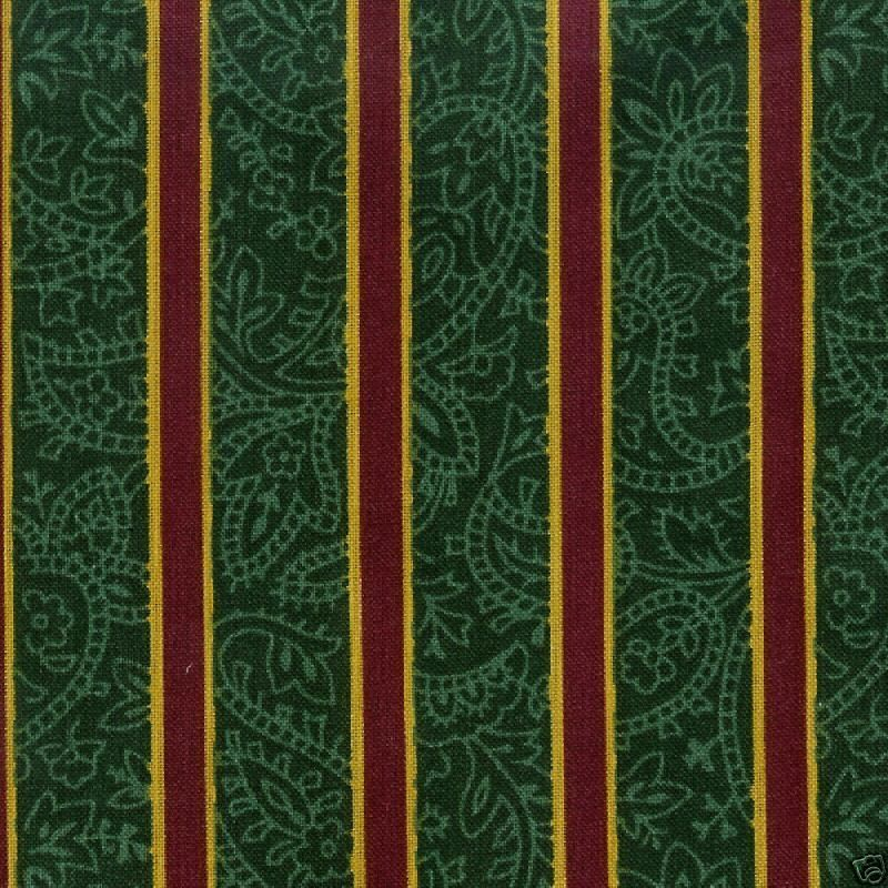 Longaberger Apron Imperial Stripe Green Holiday Fabric Cotton New In Bag Genuine