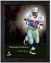 "Emmitt Smith Dallas Cowboys - 11"" x 1 4"" Framed ""Pro Quotes"" - $671,65 MXN"