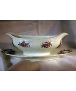 CH Field Haviland Limoges Bluebirds Basketweave 12 oz Gravy Boat W/ Unde... - $22.04