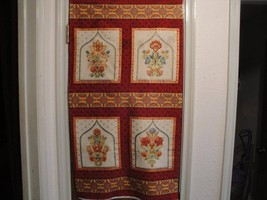 """Anastasia Jewel"" Panel-R. Kaufman-Reds & Golds... - $5.95"