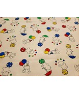 Vintage Carters Circus Teddy Bear Balloon Ball Primary White Baby Blanke... - $24.73