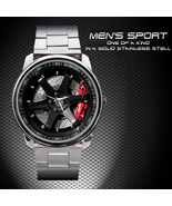 New Hot Volk Rays Racing TE37 SL Black Coupe Rim Wheel Sport Metal Watch - $15.99