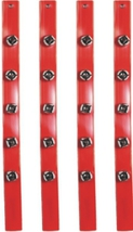 Christmas - Santa Claus Bell Strap - Set of 4 - Jingle Sleigh Bells image 3