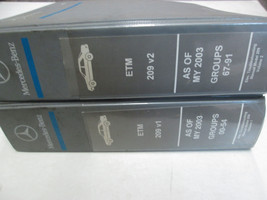 2003 Mercedes Benz Model 209 Electrical Troubleshooting Manual ETM Used Book *** - $158.39
