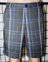 GREG NORMAL for Tasso Ella Men's Size 34 Blue & Gray Plaid Golf Shorts EUC - $22.24