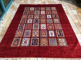 "Oriental Rug Fine super Kazak Wool  Hand Knotted Tribal Design Rug 5' 8"" X 7'10"" - $1,484.01"