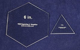 "6"" Hexagon & 3"" Equilateral Triangle -Actual Sizes-1/8"" Acrylic - $19.99"