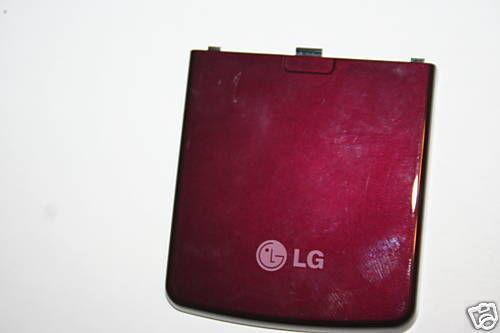 OEM LG Vu cu915 cu920 Battery Door Back Cover Red Wine