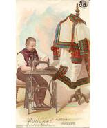Singer Sewing Hungarian Men 1892 Victorian Trade Card - $7.00