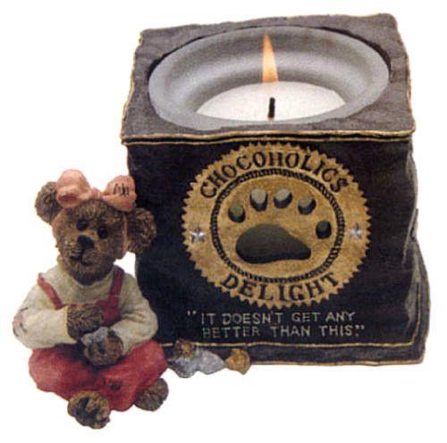 "Boyds Bearstone Votive ""Fannie Sweetcheeks"" #27956- Candle -NIB-  Retired"