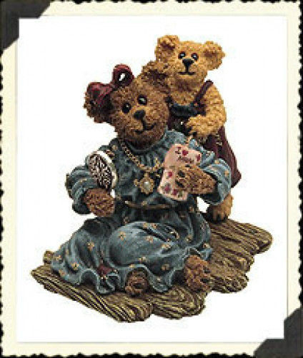"Boyds Bearstone ""Karen Everymom & Jewel..One of a Kind"" *#82500*NEW*2000*Retired"