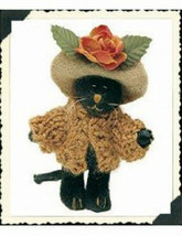 "Boyds Bearwear ""Miss Minnie Partridge"" Wuzzie Cat Pin #81000 New- 2000 -Retired - $10.99"