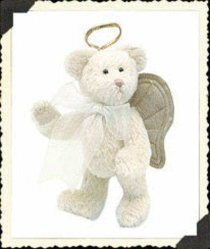 """Boyds Bears """"Bethany Bearington""""  8"""" Mohair Angel Bear- #590053-01 -NWT-2000"""