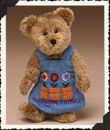 "Boyds Bears ""Miss Pottsalot"" 8"" Plush Garden Bear - #903061 - NWT- 2005 -Retired"