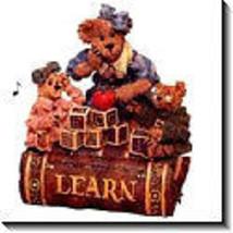 "Boyds Bearstone Music Box ""Ms.Bruin & Bailey..The Lesson"" #270554- NIB- Retired image 2"