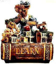 "Boyds Bearstone Music Box ""Ms.Bruin & Bailey..The Lesson"" #270554- NIB- Retired"