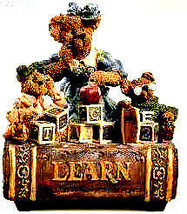 "Boyds Bearstone Music Box ""Ms.Bruin & Bailey..The Lesson"" #270554- NIB- Retired image 1"