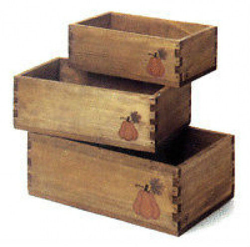 "Boyds Collection - Accessory ""Punkinbeary Harvest Crates"" #654920- New-  Retired"