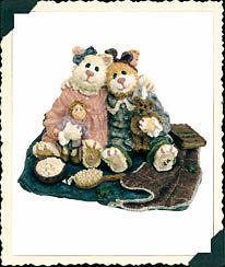 "Boyds Bears Purrstone ""Catarina & Sassy..Purrfect Friends"" #371011-1E -NIB- 2000"