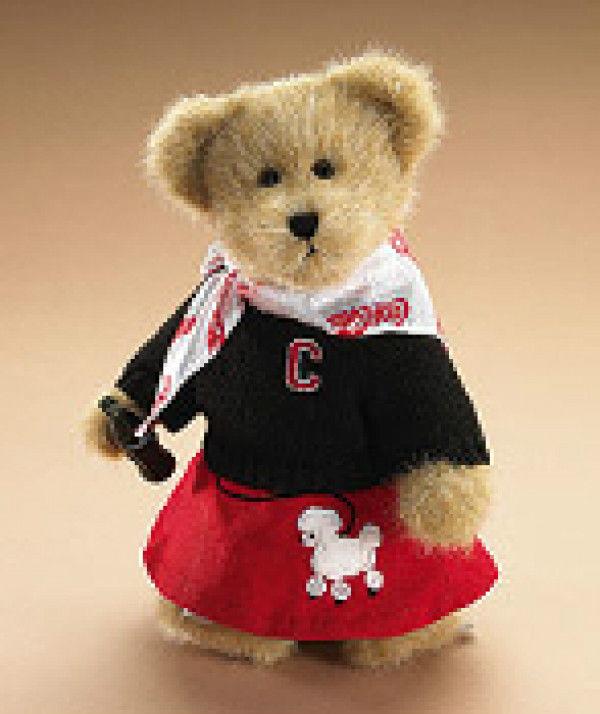 "Boyds Bears ""Sandra"" 10"" Coca Cola®  Plush Bear-919979 - NWT- 2006-Retired"