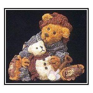 "Boyds Bearstone ""Elliot & Snowbeary"" #2242*  NIB* 1994* Retired image 2"