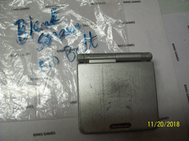 GameBoy Advance SP Platinum Silver Handheld System - Blank screen, no b... - $24.99