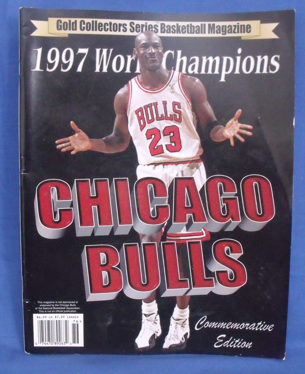 Primary image for Gold Collectors Series Basketball 1997 World Champions Chicago Bulls Magazine