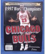 Gold Collectors Series Basketball 1997 World Champions Chicago Bulls Mag... - $19.95