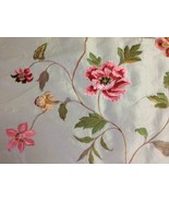 Claridge Textile faux silk flower embroidery fabric by the yard pillows ... - $56.43
