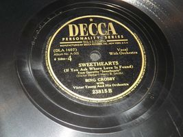 1947 Bing Crosby, Victor Herbert and His Orchestra  AA19-1602 Vintage Decca Reco image 5